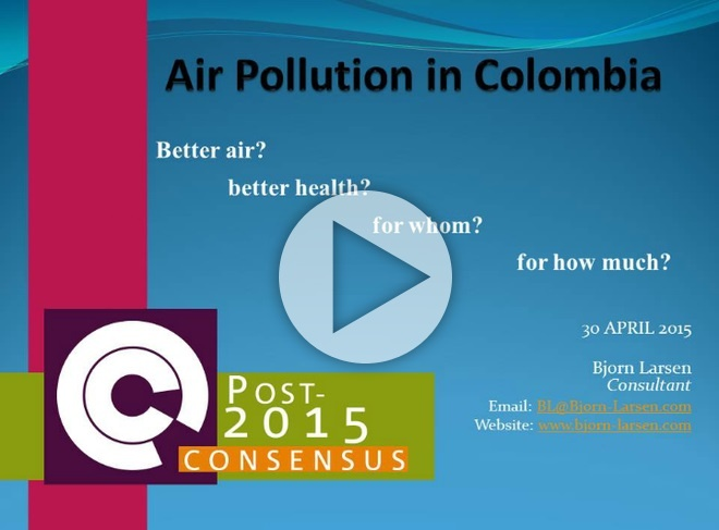 air pollution in colombia Our data drew on air pollution levels (including particles of 10 micrometers in diameter or less and 25 micrometers or less), according to the world health organization, the quality-of-living rank according to global consultancy mercer (ed note: not every city has a mercer rank), and the home country's environmental performance score.