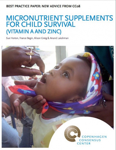 1. Micronutrient supplements for children (vitamin A and zinc) image