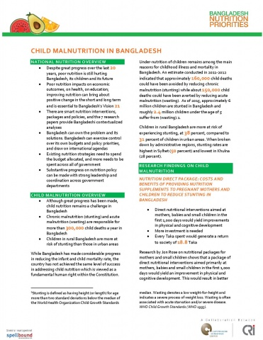 Nutrition Policy Briefs image