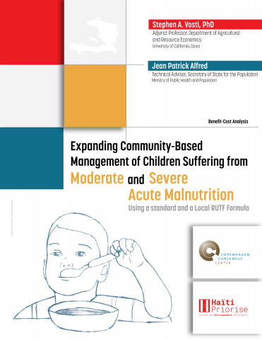 Expanding Community-Based Management of Children Suffering from Moderate and Severe Acute Malnutrition Using a standard and a Local RUTF Formula image