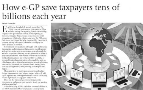 How e-GP save taxpayers tens of billions each year image