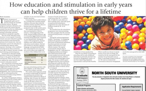 How education and stimulation in early years can help children thrive for a lifetime image