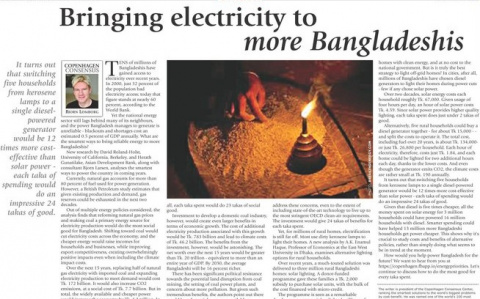 Bringing electricity to more Bangladeshis image
