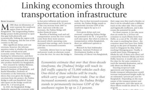 Linking economies through transportation infrastructure image