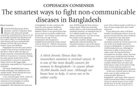 The smartest ways to fight non-communicable diseases in Bangladesh image