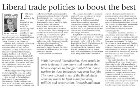 Liberal trade policies to boost the best image