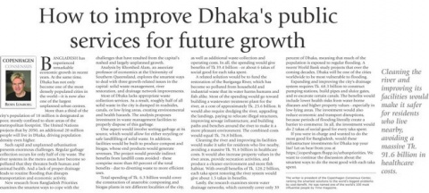 How to improve Dhaka's public services for future growth image
