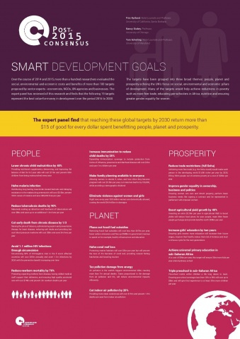 The smartest targets for the post-2015 development agenda  image