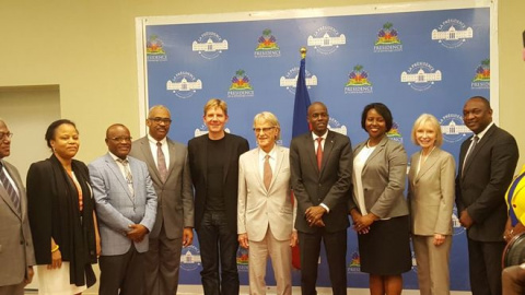 The President of Haiti receives the Haiti Priorise outcome image